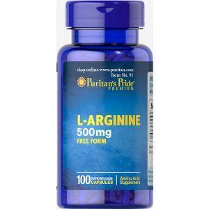 Л-аргинин, L-Arginine, Puritan's Pride, 500 мг, 100 капсул