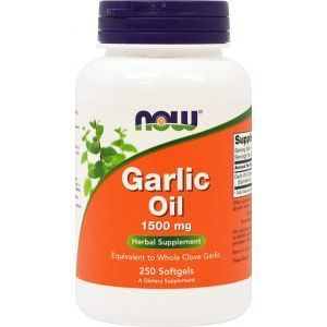 Чесночное масло, Garlic Oil, Now Food, 1500 мг, 250 кап