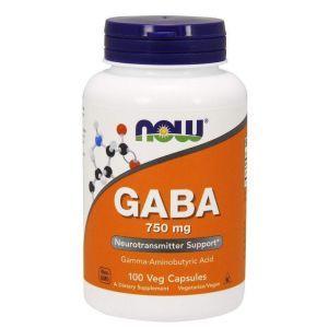 Гамма-аминомасляная кислота (GABA), Now Foods, 750 мг, 100 к