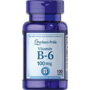 Витамин В6, Vitamin B-6 (Pyridoxine Hydrochloride), Puritan's Pride, 100 мг, 100 таблеток (Default)