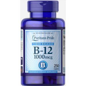 Витамин В-12, Vitamin B-12, Puritan's Pride, 1000 мкг, 250 капсул