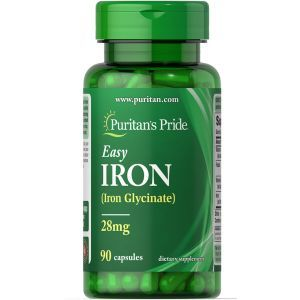 Железо, Easy Iron 28 mg, Puritan's Pride, 25 мг, 90 гелевых капсул