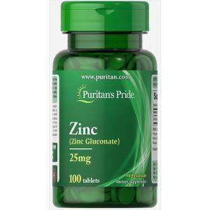 Цинк, Zinc 25 mg, Puritan's Pride, 25 мг, 100 капсул
