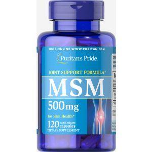 МСМ, Метилсульфонилметан, MSM, Puritan's Pride, 500 mg, 120 капсул