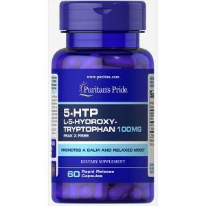 5-гидрокситриптофан, 5-HTP, Puritan's Pride, 100 мг, 60 капсул