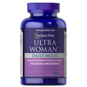 Мультивитамины для женщин ультра, Ultra Woman™ Daily Multi Timed Release, Puritan's Pride, 90 капсул
