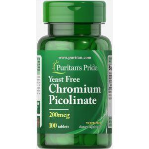 Хром пиколинат, Chromium Picolinate, Puritan's Pride, 200 мкг, 100 таблеток