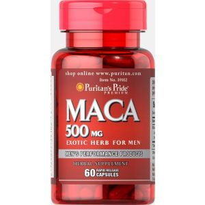 Мака, Maca, Puritan's Pride, 500 мг, 60 капсул