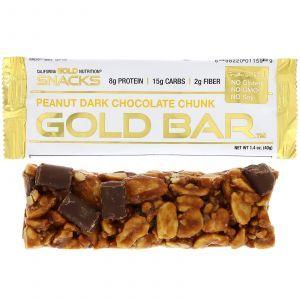 Бары золотые, Gold Bar, California Gold Nutrition, 40 г