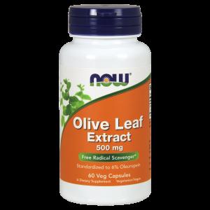 Экстракт листьев оливы, Olive Leaf Extract, Now Foods, 500 мг, 60 кап.
