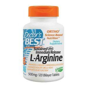 L-аргинин, Doctor's Best, 500 мг, 120 табл.