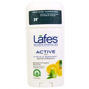 Твердый дезодорант, Protection Invisible Solid, Lafe's Natural Body Care, цитрусовые и бергамот, 63 г