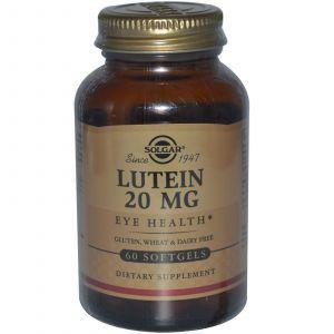 Лютеин, Solgar, 20 мг, 60 капс