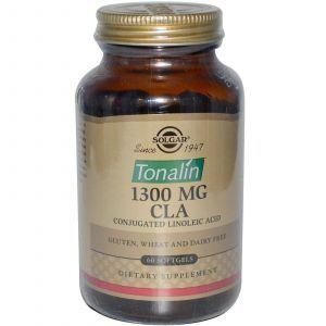 Конъюгированная линолевая к-та, Solgar, 1300 мг, 60 капсул