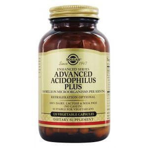 Пробиотики, Advanced Acidophilus, Solgar, 120 капсул (Default)