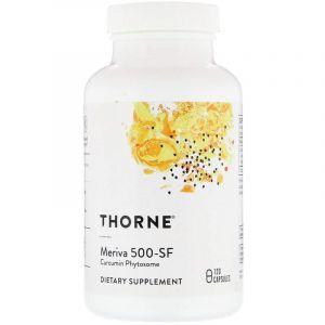 Куркумин фитосома, Meriva 500-SF, Thorne Research, 120 капсул