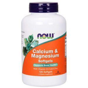 Кальций и магний, Calcium & Magnesium, Now Foods, комплекс, 120 капсул