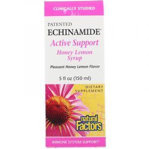 Эхинацея сироп мед+лимон (Echinamide Active Defense), Natural Factors, 150 мл. (Default)