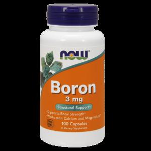 Бор, Boron, Now Foods, 3 мг, 100 капсул