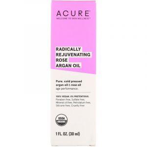 Аргановое масло марокканское, Argan Oil, Acure Organics, омолаживающее, розовое, 30 мл (Default)