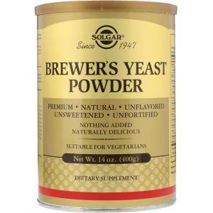 Пивные дрожжи, Brewer's Yeast, Solgar, порошок, 400 гр. (Default)