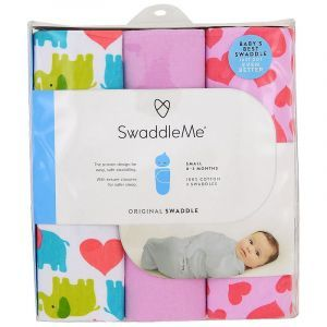 Пеленки для младенцев 0-3 месяца, Swaddle Me, Original Swaddle, Summer Infant, 3 пеленки (Default)