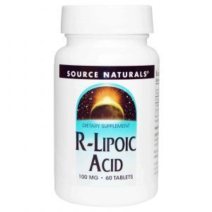 R липоевая кислота, Source Naturals, 100 мг, 60 таб.