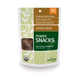 Энергетическая закуска вкус кофе и какао, Power Snacks, Navitas Naturals, 227 г