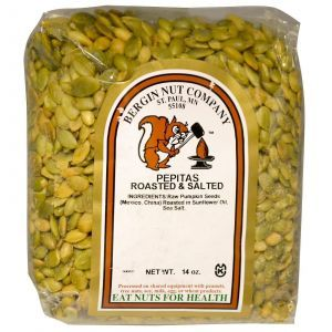Обжаренные и подсоленные тыквенные семечки, Bergin Fruit and Nut Company, 397 г