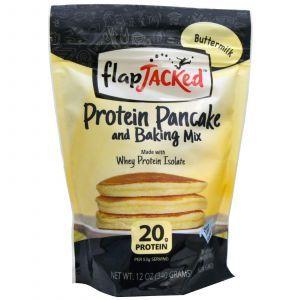 Приготовление блинчиков и выпечки, Pancake and Baking Mix, FlapJacked, протеиновая смесь, 340 г
