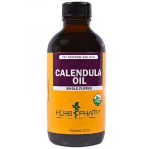Масло календулы, Calendula Oil, Herb Pharm, органик, 120 мл