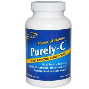 Витамин C, необработанный, Purely-C, North American Herb & Spice Co., 700 мг, 90 капсул