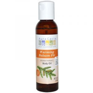 Аромо масло для тела и массажа, Warming Balsam Fir, Aura Cacia, согревающее, пихта, 118 мл