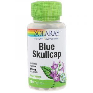 Шлемник, экстракт, Blue Skullcap, Solaray, для веганов, 425 мг, 100 капсул