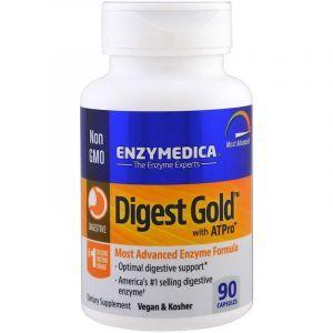 Пищеварительные ферменты, Digest Gold, Enzymedica, 90 капсул