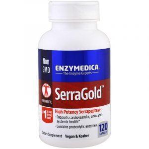Протеолитические ферменты, SerraGold, Enzymedica, 120 капсул