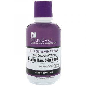 Коллагеновый комплекс, Collagen Beauty Formula, Rejuvicare, вкус винограда, жидкость, 480 мл