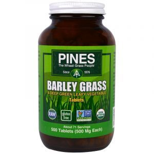 Зеленые побеги ячменя, Barley Grass, Pines International, 500 таб. (Default)