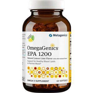 Эйкозапентаеновая кислота (ЭПК), Омега 3, OmegaGenics EPA 1200, Metagenics, 60 гелевых капсул