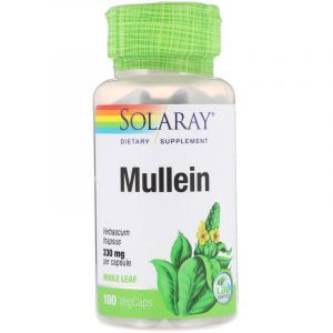 Коровяк, Mullein, Solaray, 330 мг, 100 капсул (Default)