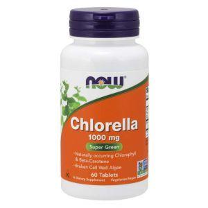 Хлорелла, Chlorella, Now Foods, 1000 мг, 60 таблеток