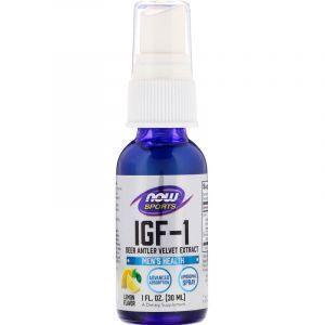 Инсулиноподобный фактор, IGF-1+ Liposomal Spray, Now Foods, Sports, спрей 30 мл. (Default)