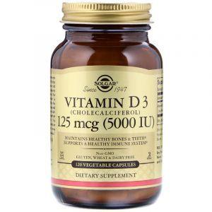 Витамин Д3, Vitamin D3 Cholecalciferol, Solgar, 5000 МЕ, 120 капсул (Default)