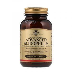 Пробиотики, Advanced Acidophilus, Solgar, 100 капсул (Default)