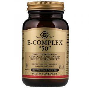 """Витамины В-комплекс, B-Complex """"50"""", Solgar, 100 капсул (Default)"""