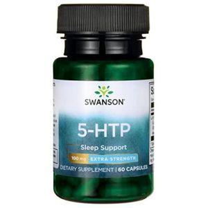5-HTP экстра сила, 5-HTP Extra Strength, Swanson, 100 мг, 60 капсул