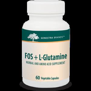 ФОС и  L-глутамин,  FOS + L-Glutamine, Genestra Brands, 60 вегетарианских капсул
