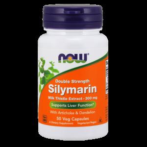 Расторопша, Silymarin, Now Foods, 300 мг, 50 капсул