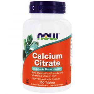 Кальций цитрат с минералами, Calcium Citrate, Now Foods, 100 таблеток