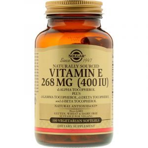 Витамин Е, Vitamin E, Solgar, 268 мг (400 МЕ), 100 капсул (Default)